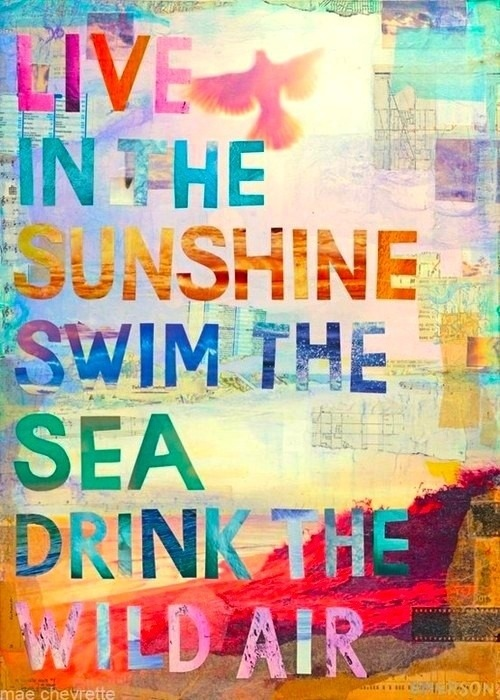 Some Words of Wisdom for a Sunny Saturday